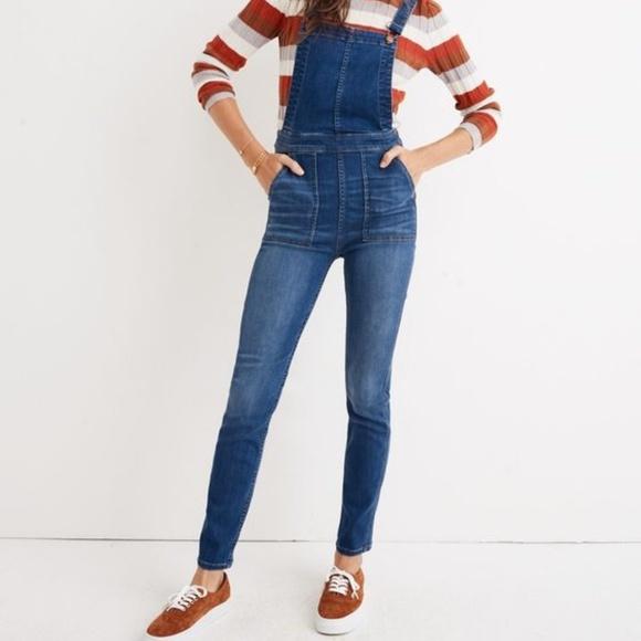 Alin hinta laaja valikoima super halpa Size S Madewell Skinny Overalls in Santiago Wash NWT